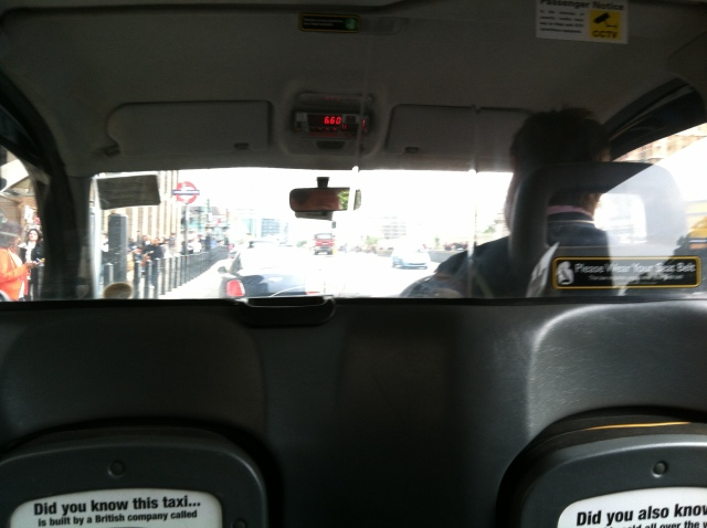 View From London Taxi