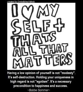 saying for self esteem'happiness
