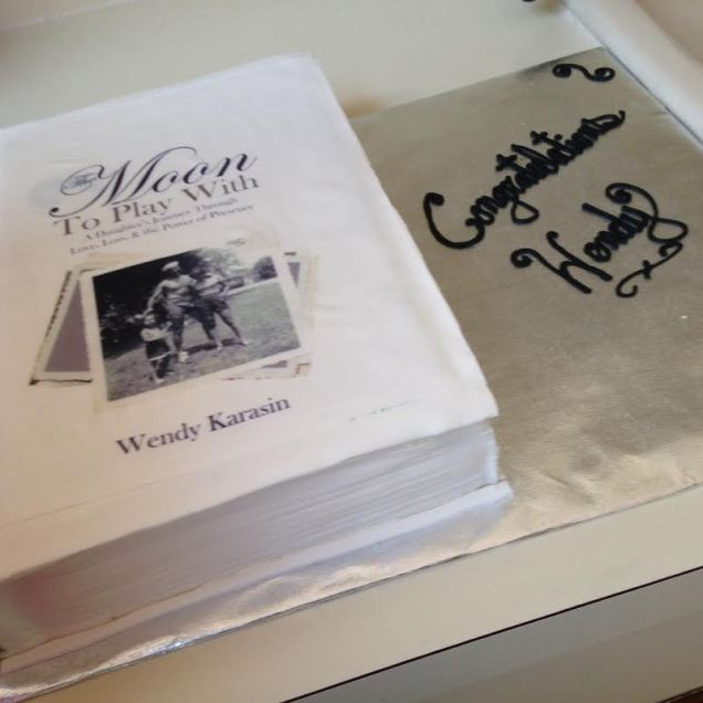 cake with book