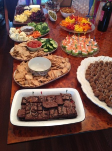 food at party